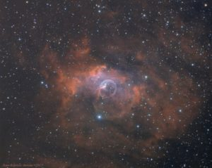 NGC 7635 - Nébuleuse de la Bulle (version LRGB-SHO)