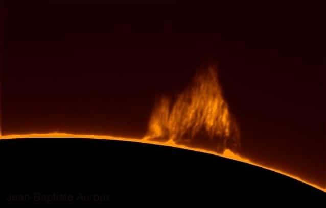 Protubérance solaire saisie avec le PST