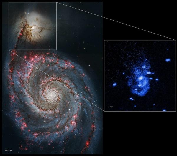 Trou noir M51