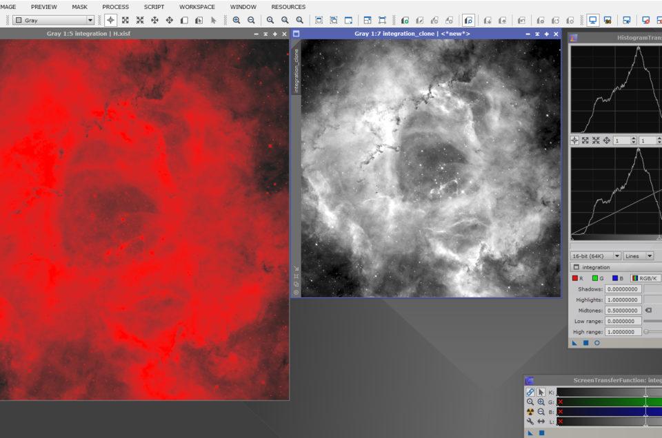 Traitement simple d'une image monochrome avec Pixinsight (Pix)