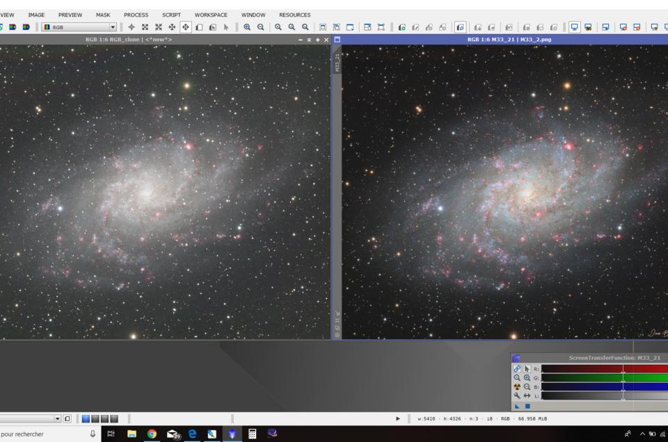 Intégrer une couche Ha sur une image RGB (Pix)