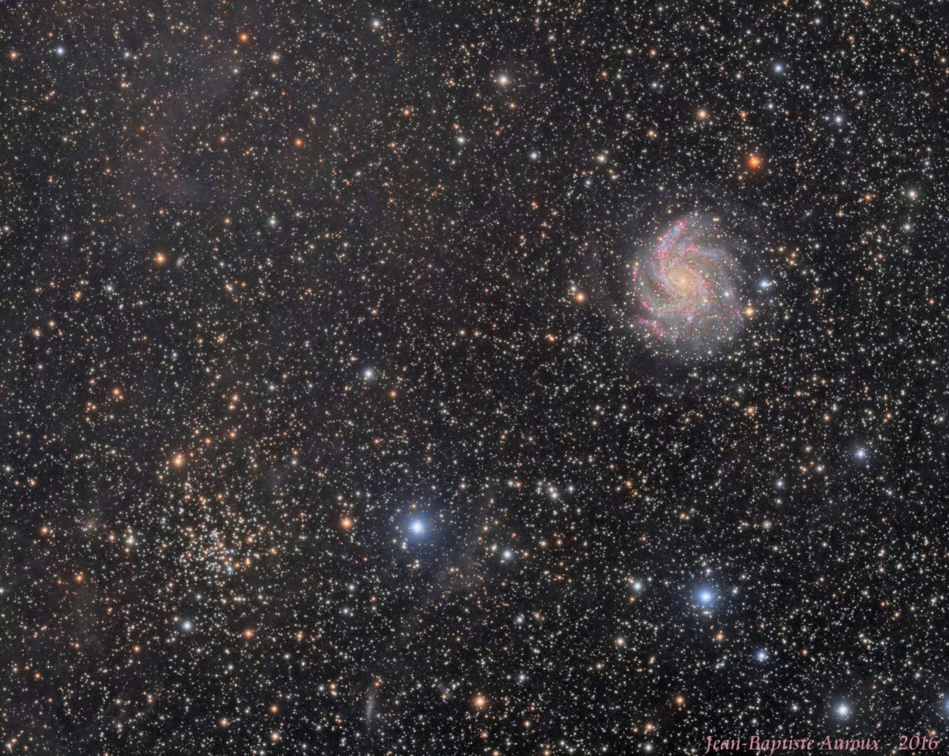 Galaxie NGC 6946 & amas NGC 6939