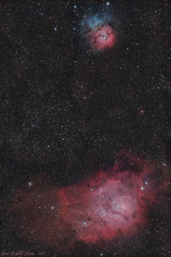 M8 & M20 - Nébuleuses de la Lagune & du Trèfle (APN)